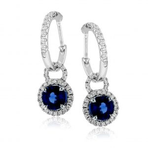 Diamond & Gemstone Drop Earrings