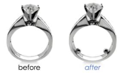 Rings Spinning - before and after