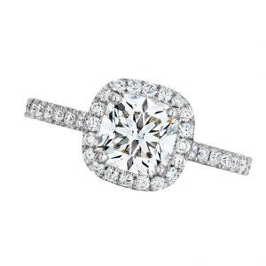 Ideal Cushion Cut Forevermark Diamond Engagement Ring
