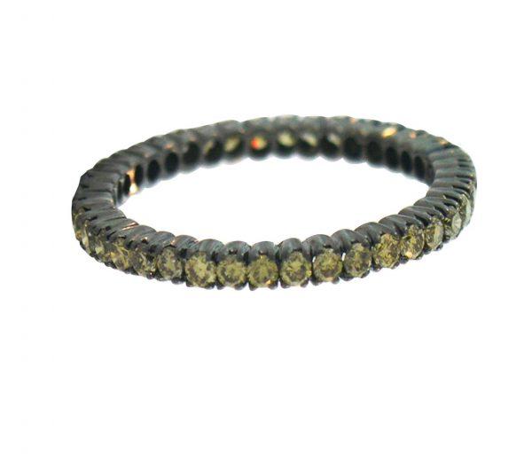 18 Karat Gold w Green Diamonds