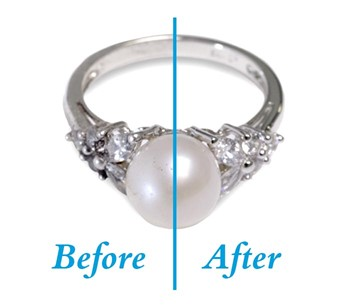 Before & After ring cleaning