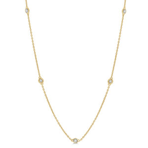 Delicate Gold Station Necklace